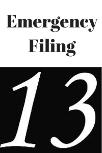Emergency Filing