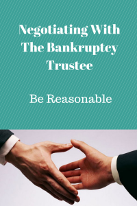 Negotiating With The Bankruptcy Trustee