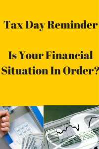 Tax Day ReminderIs Your Financial