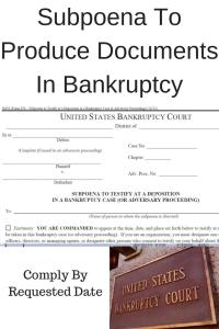 Subpoena To Produce Documents In