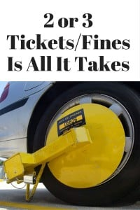 2 or 3 Tickets-Fines Is All It Takes