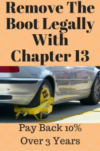 Remove The Boot Legally With Chpater 13