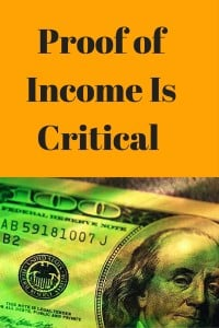 Proof of Income Is Critical